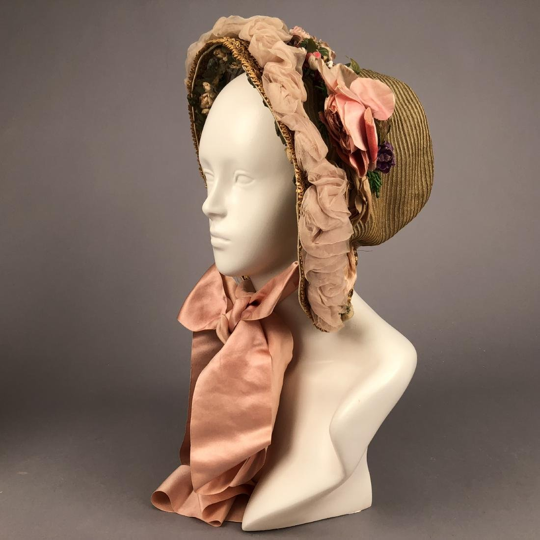 TWO BONNETS with HORSEHAIR, 1860, 1863 - 3