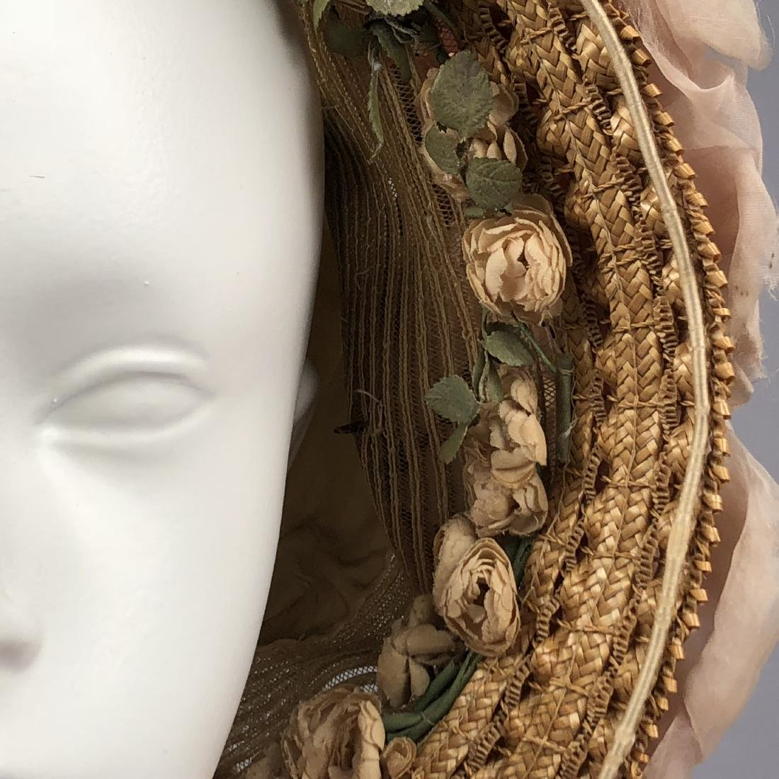 TWO BONNETS with HORSEHAIR, 1860, 1863 - 6