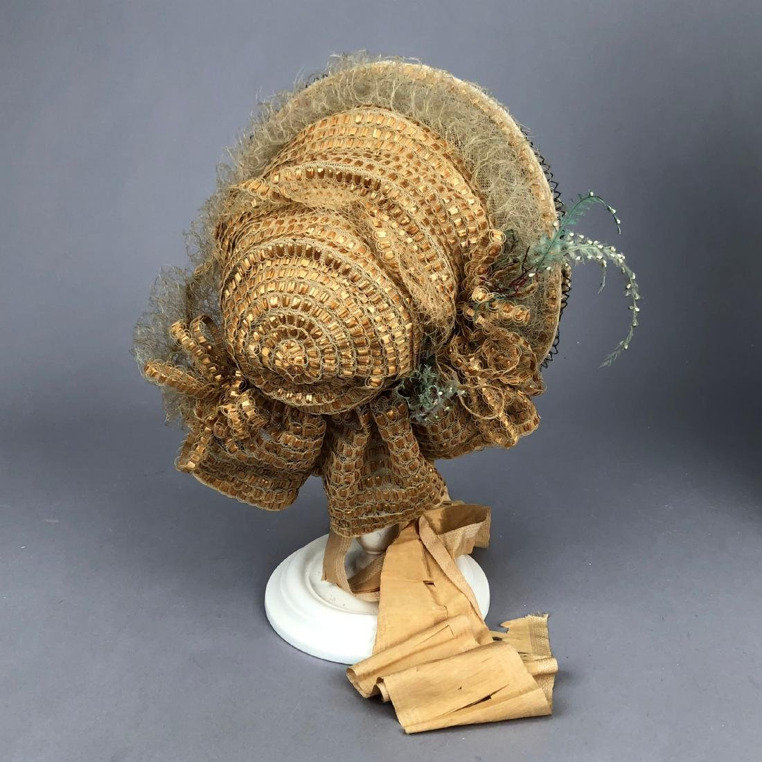 TWO BONNETS with HORSEHAIR, 1860, 1863 - 8