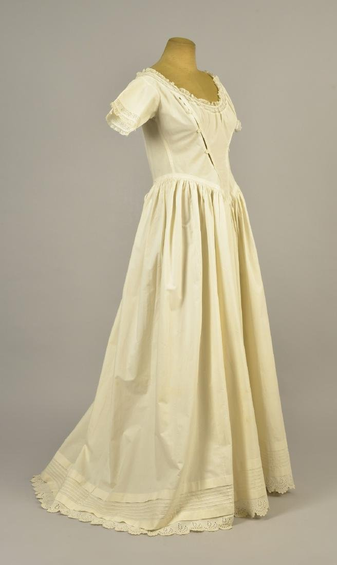 RARE TRAINED NURSING/MATERNITY UNDERDRESS, 1840s