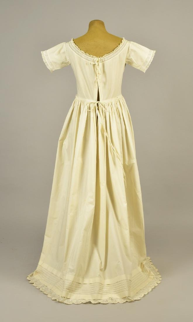 RARE TRAINED NURSING/MATERNITY UNDERDRESS, 1840s - 2