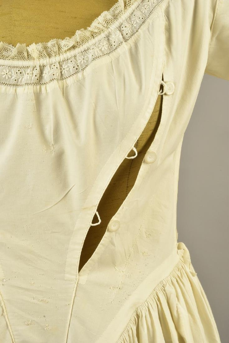 RARE TRAINED NURSING/MATERNITY UNDERDRESS, 1840s - 3