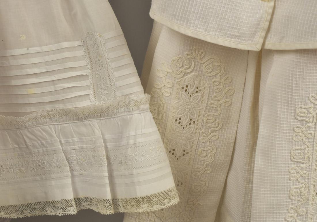 THREE CHILDREN'S WHITE DRESSES, MID 19th C - 2