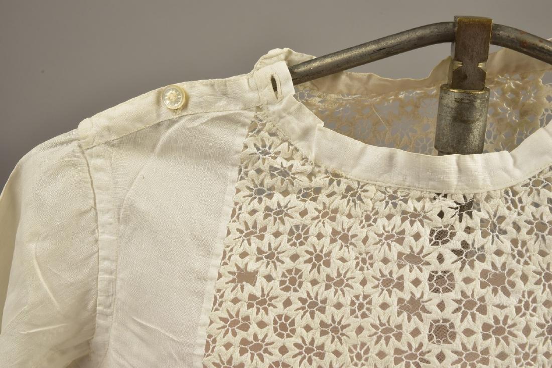 THREE CHILDREN'S WHITE DRESSES, MID 19th C - 3