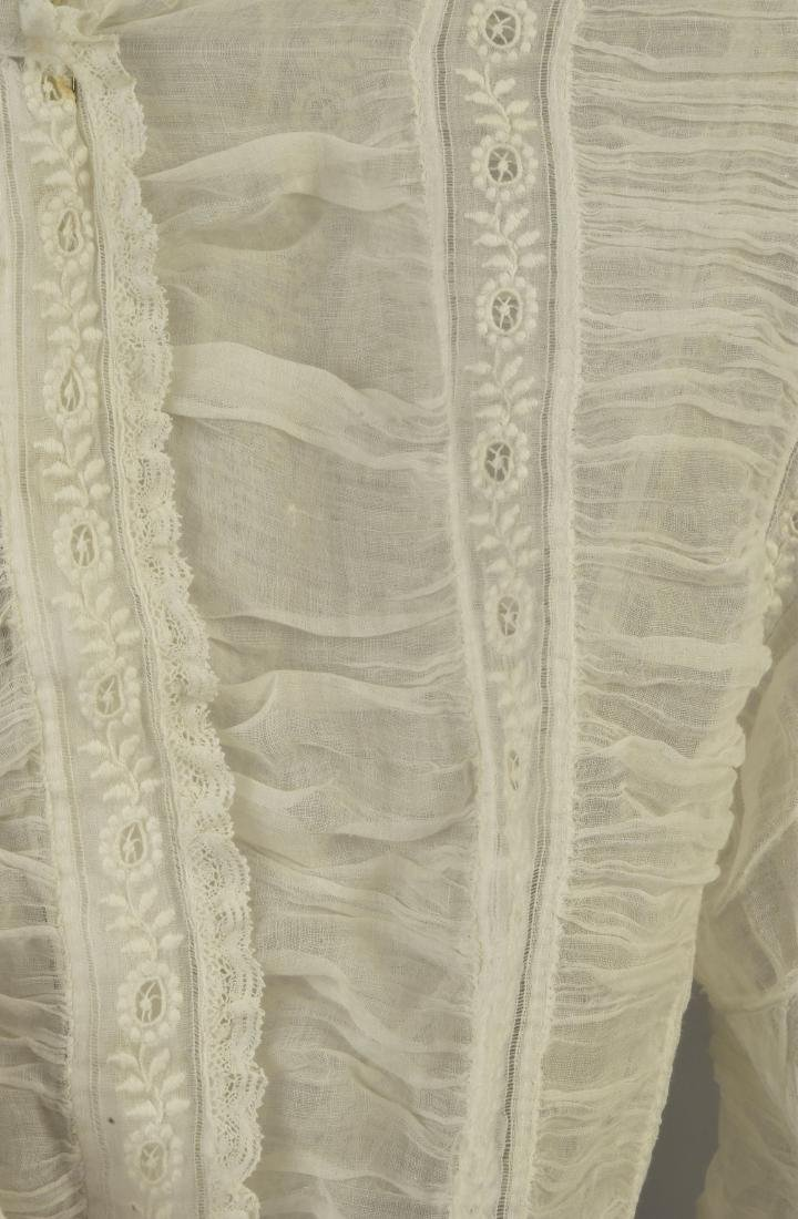 TWO WHITE COTTON BLOUSES, 1860s - 2