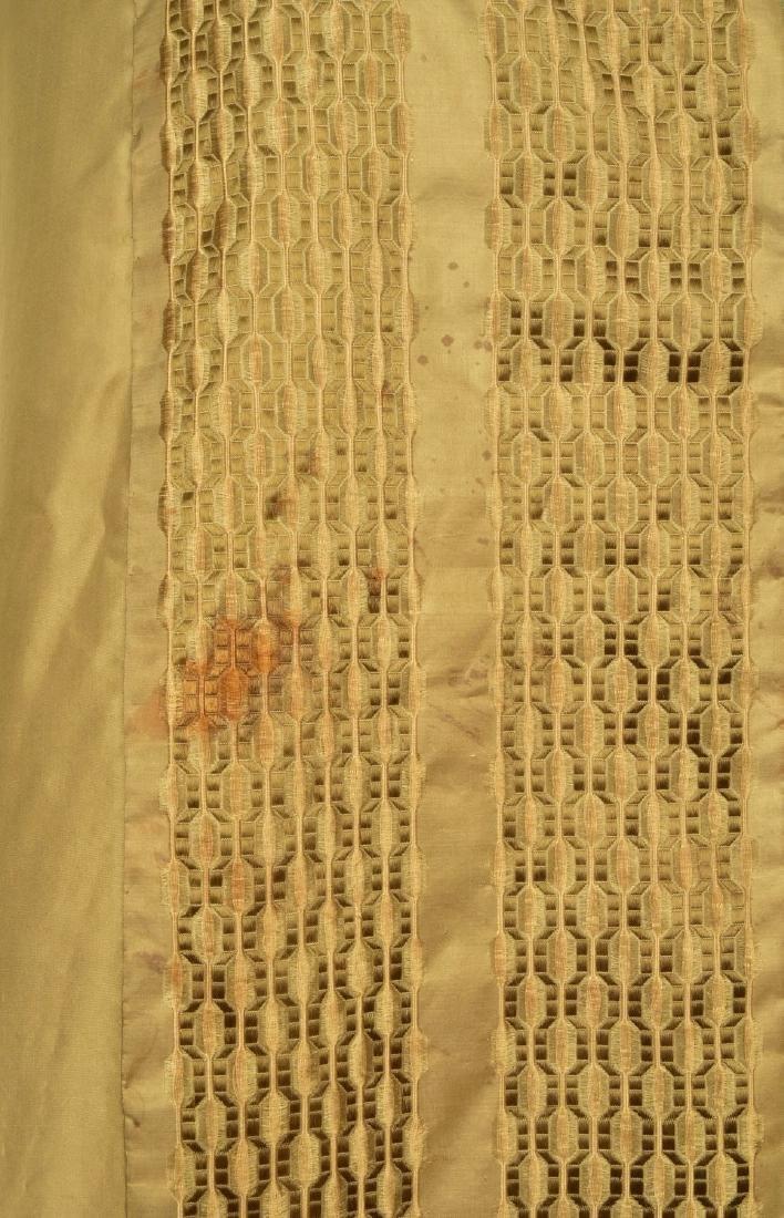 HOODED TAFFETA CAPE with FIGURED RIBBON, 1850s - 4