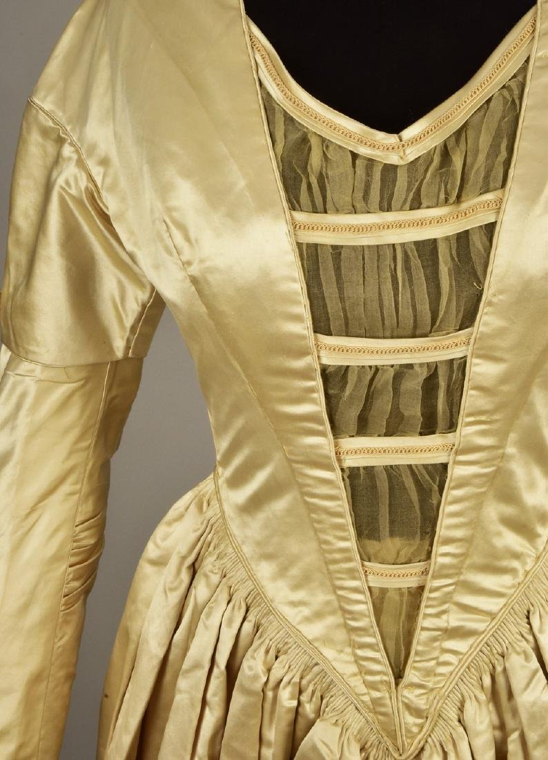 SATIN and ORGANDY WEDDING GOWN c. 1845 - 3