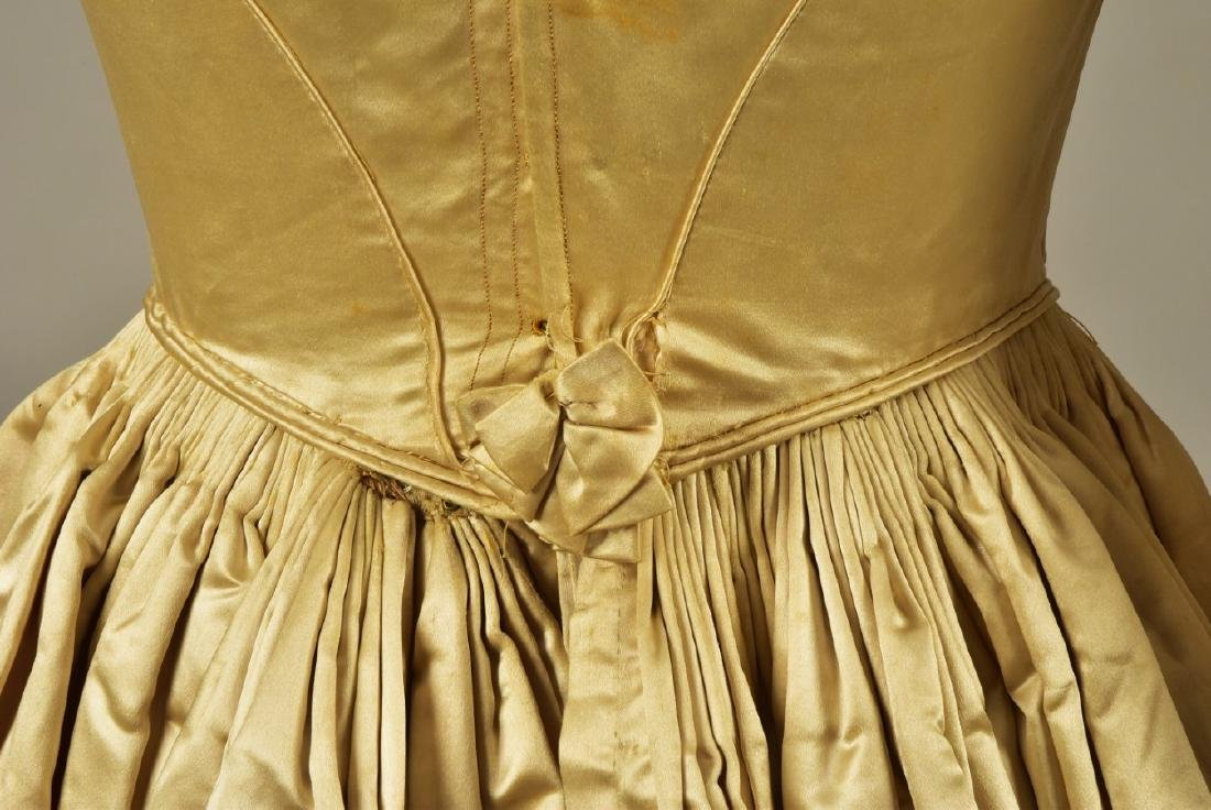 SATIN and ORGANDY WEDDING GOWN c. 1845 - 5