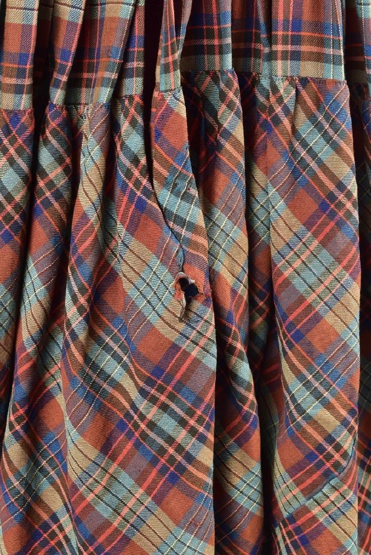 AMERICAN PLAID WOOL DRESS, 1850 - 3