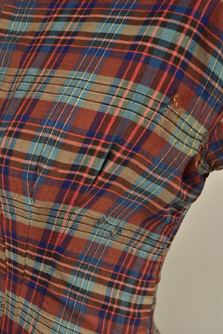 AMERICAN PLAID WOOL DRESS, 1850 - 4