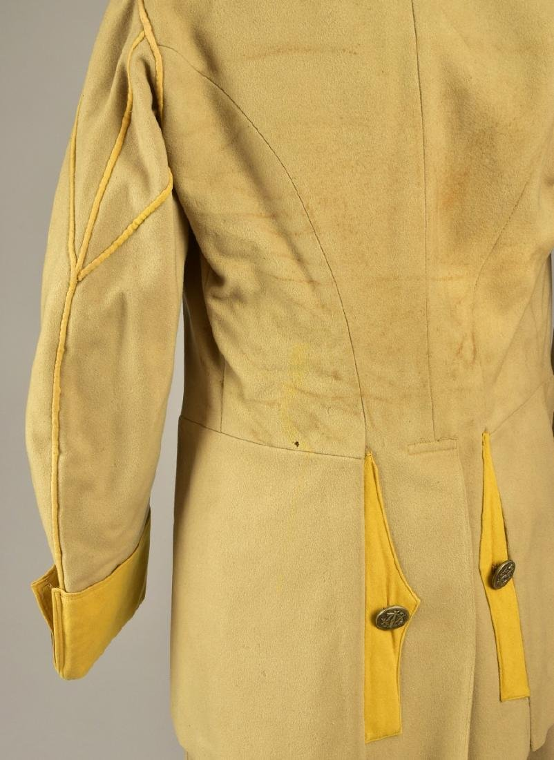 FELTED WOOL LIVERY COAT and SUIT, MID 19th C - 2