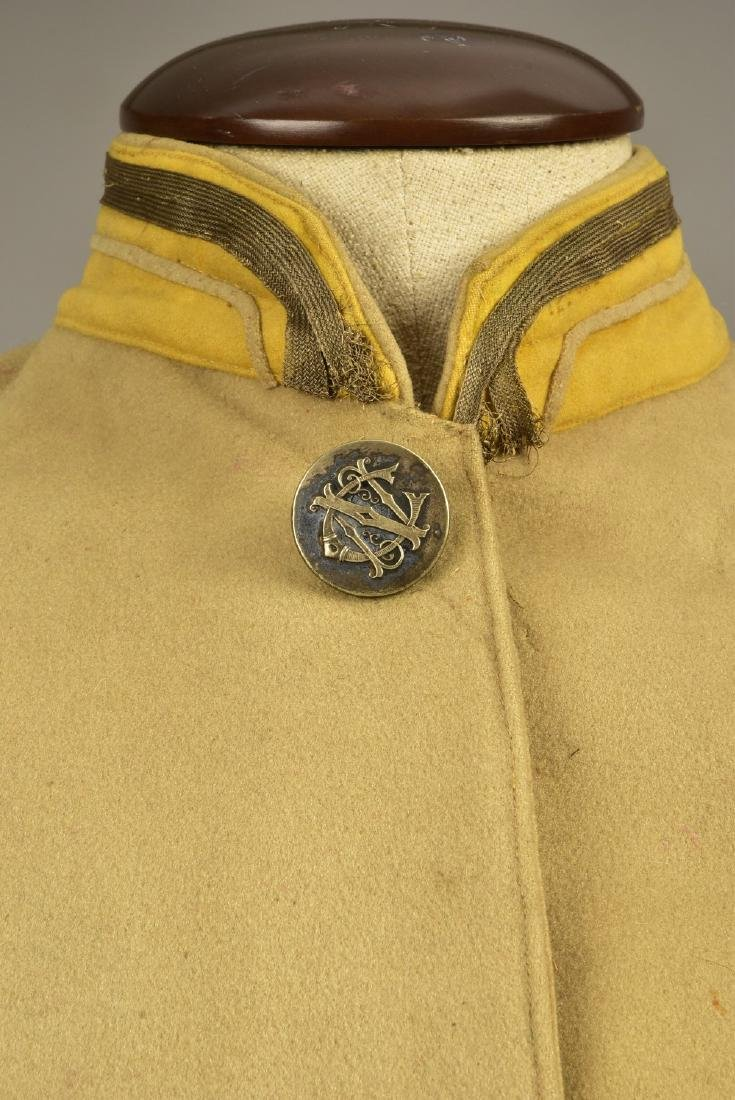 FELTED WOOL LIVERY COAT and SUIT, MID 19th C - 3