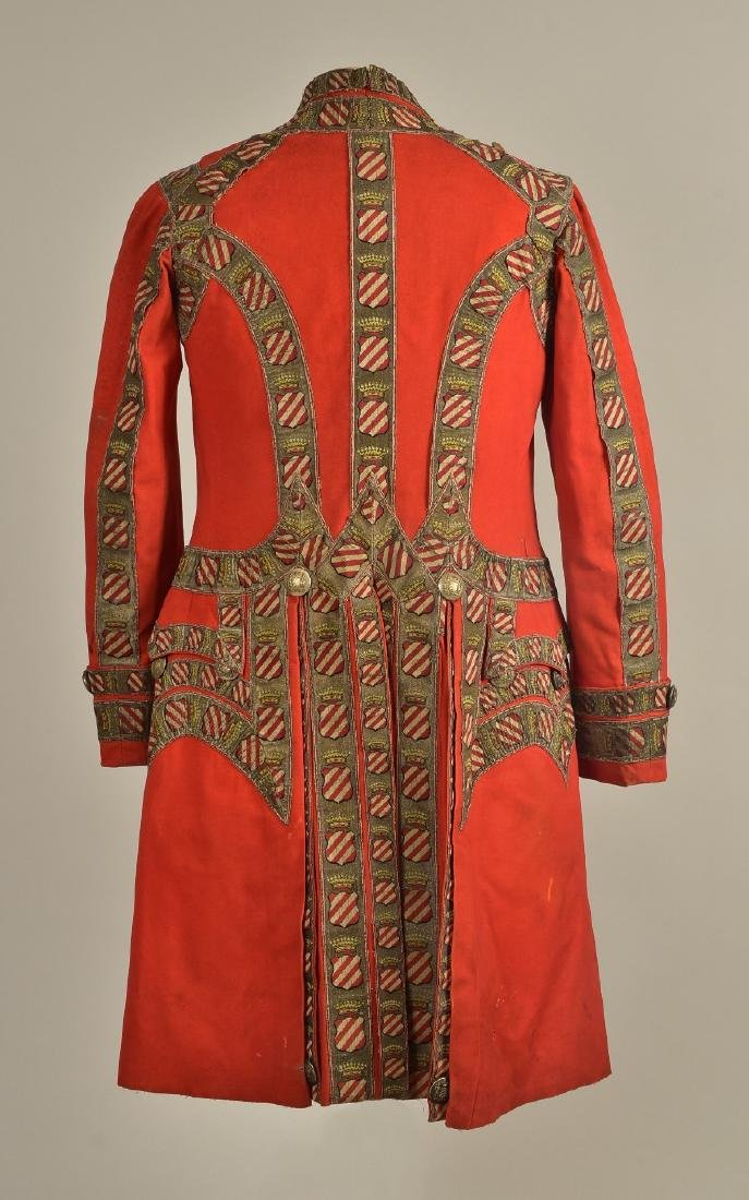 FELTED WOOL LIVERY COAT and SUIT, MID 19th C - 4