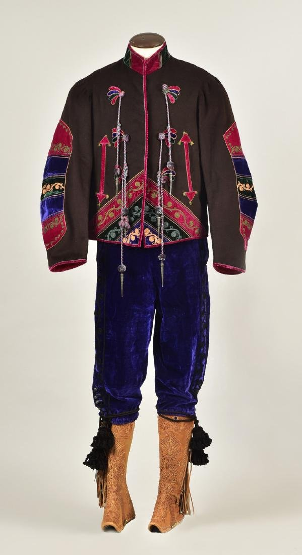FOLK COSTUME, attributed to GENERAL BUTTERFIELD, 19th C
