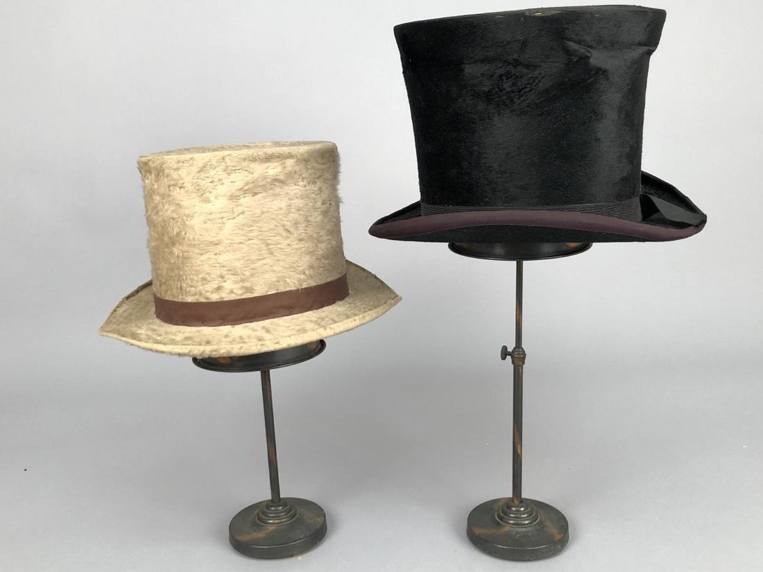 BLACK BEAVER TOP HAT, AUSTRIA, c. 1840