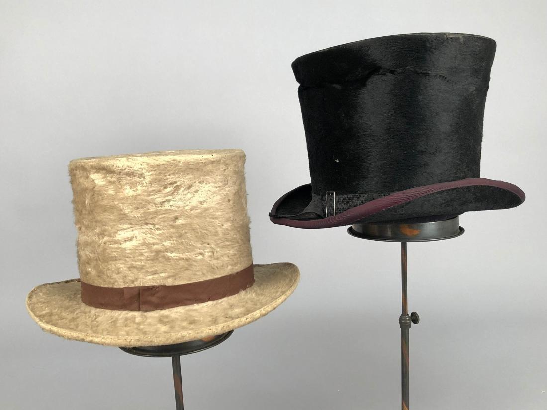 BLACK BEAVER TOP HAT, AUSTRIA, c. 1840 - 2