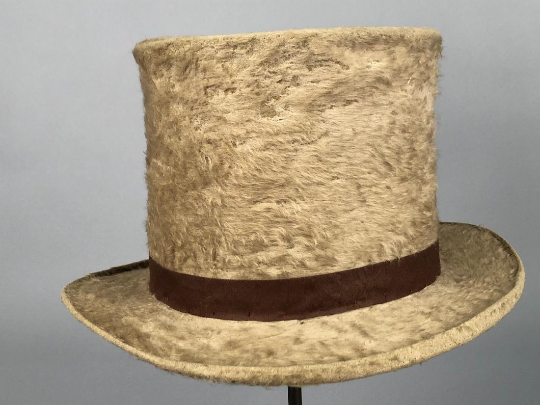 BLACK BEAVER TOP HAT, AUSTRIA, c. 1840 - 3
