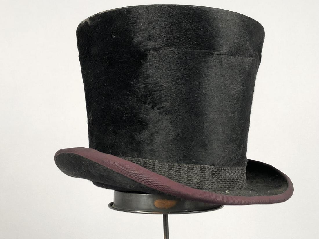 BLACK BEAVER TOP HAT, AUSTRIA, c. 1840 - 4