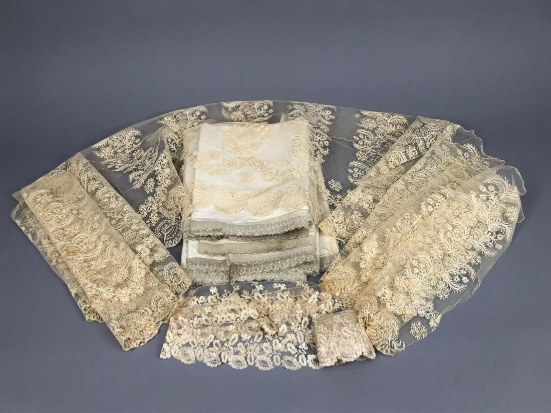 LOT of LACE TRIM, 1830s - 1840s