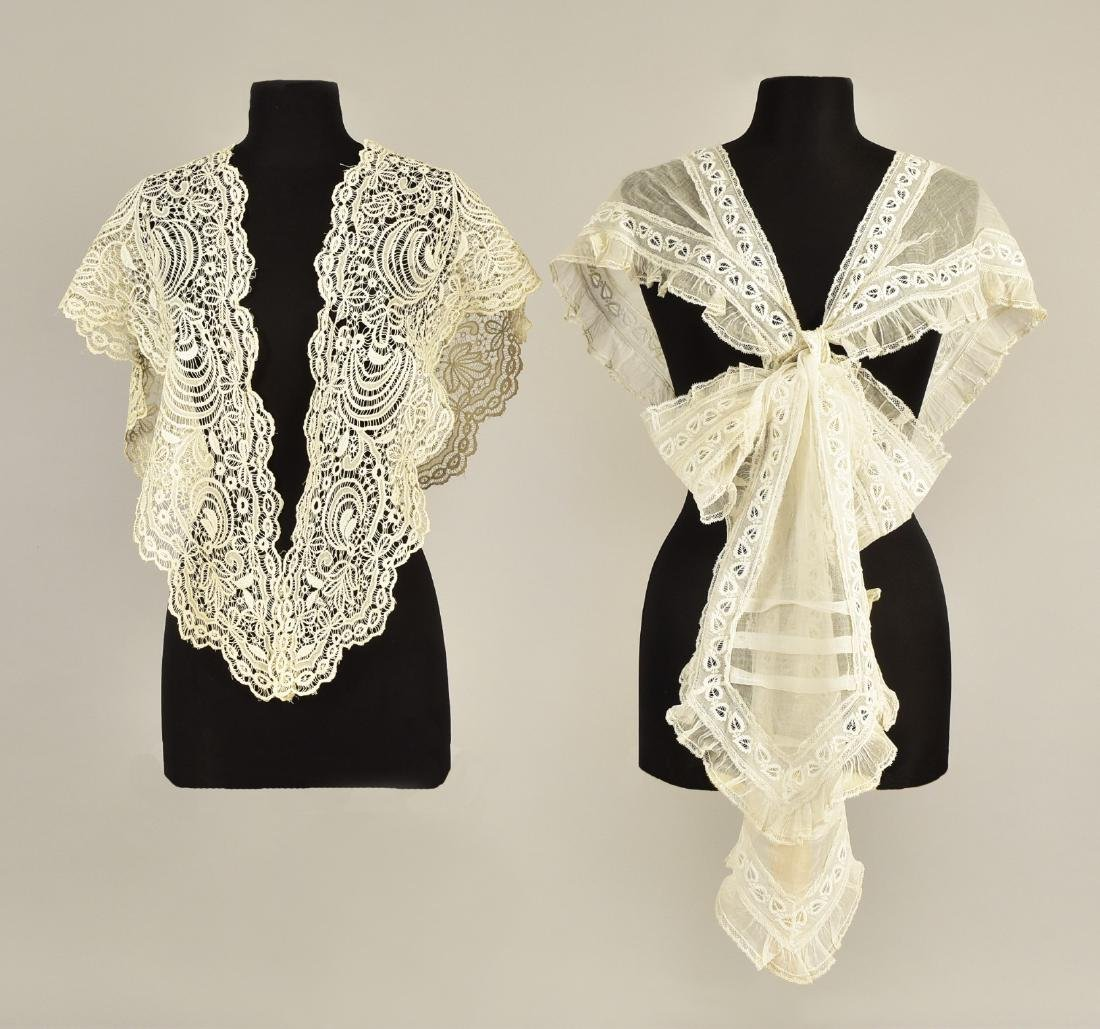TIPPET and LACE SHAWL, MID 19th C