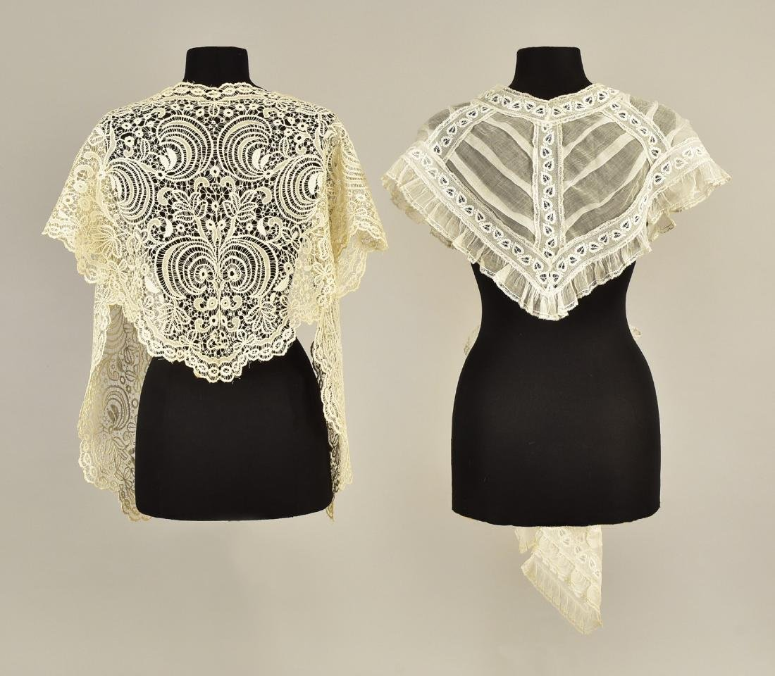 TIPPET and LACE SHAWL, MID 19th C - 2