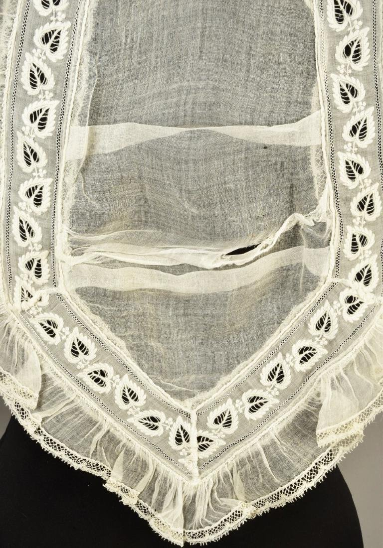 TIPPET and LACE SHAWL, MID 19th C - 4