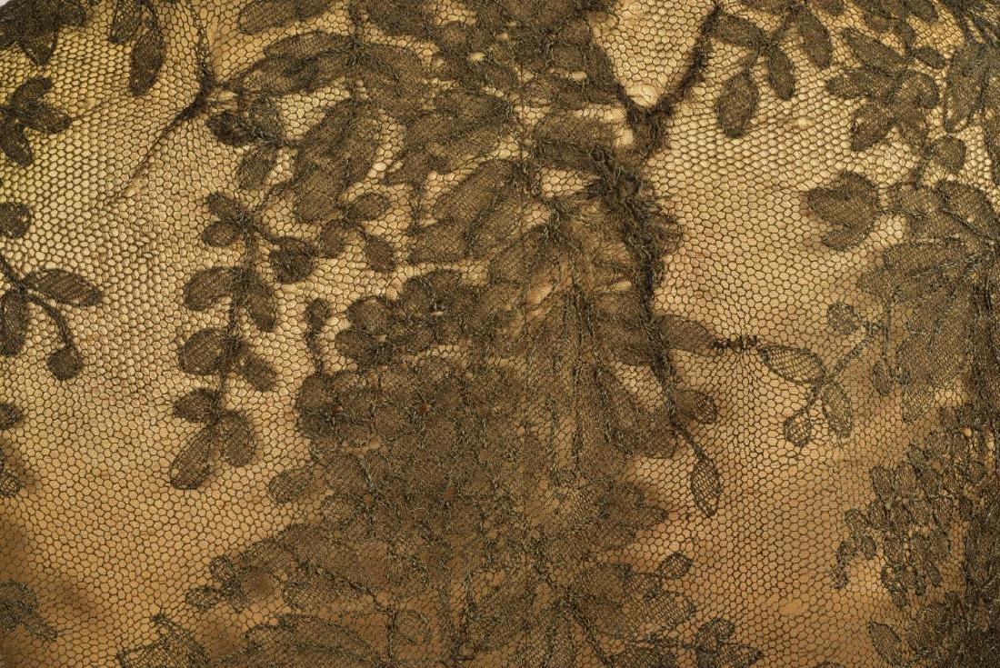 THREE CHANTILLY LACE SHAWLS, 1860s - 3