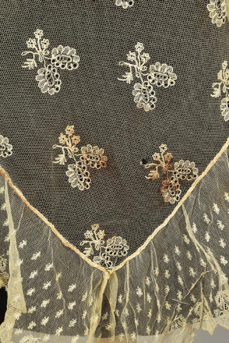 FOUR LADIES' LACE WRAPS, 1820s - 1860s - 2