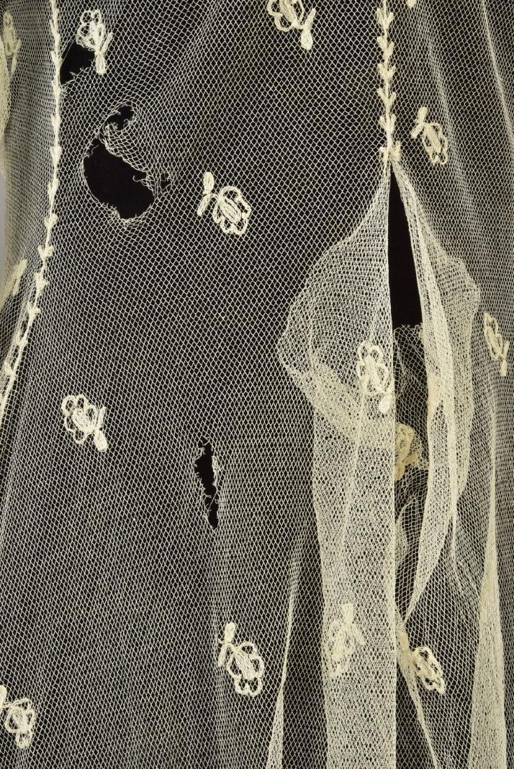 FOUR LADIES' LACE WRAPS, 1820s - 1860s - 3
