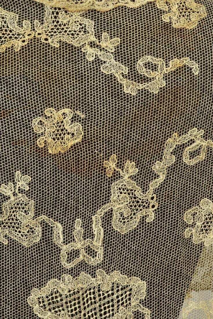 FOUR LADIES' LACE WRAPS, 1820s - 1860s - 4