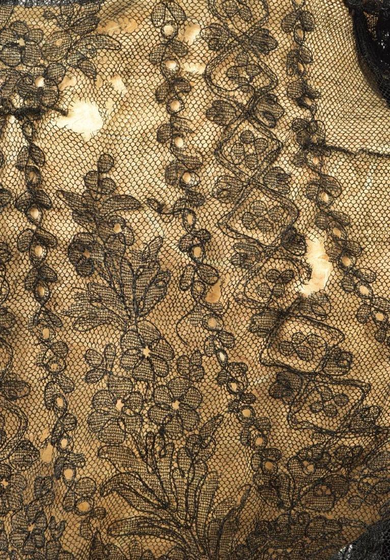 FOUR LADIES' LACE WRAPS, 1820s - 1860s - 5