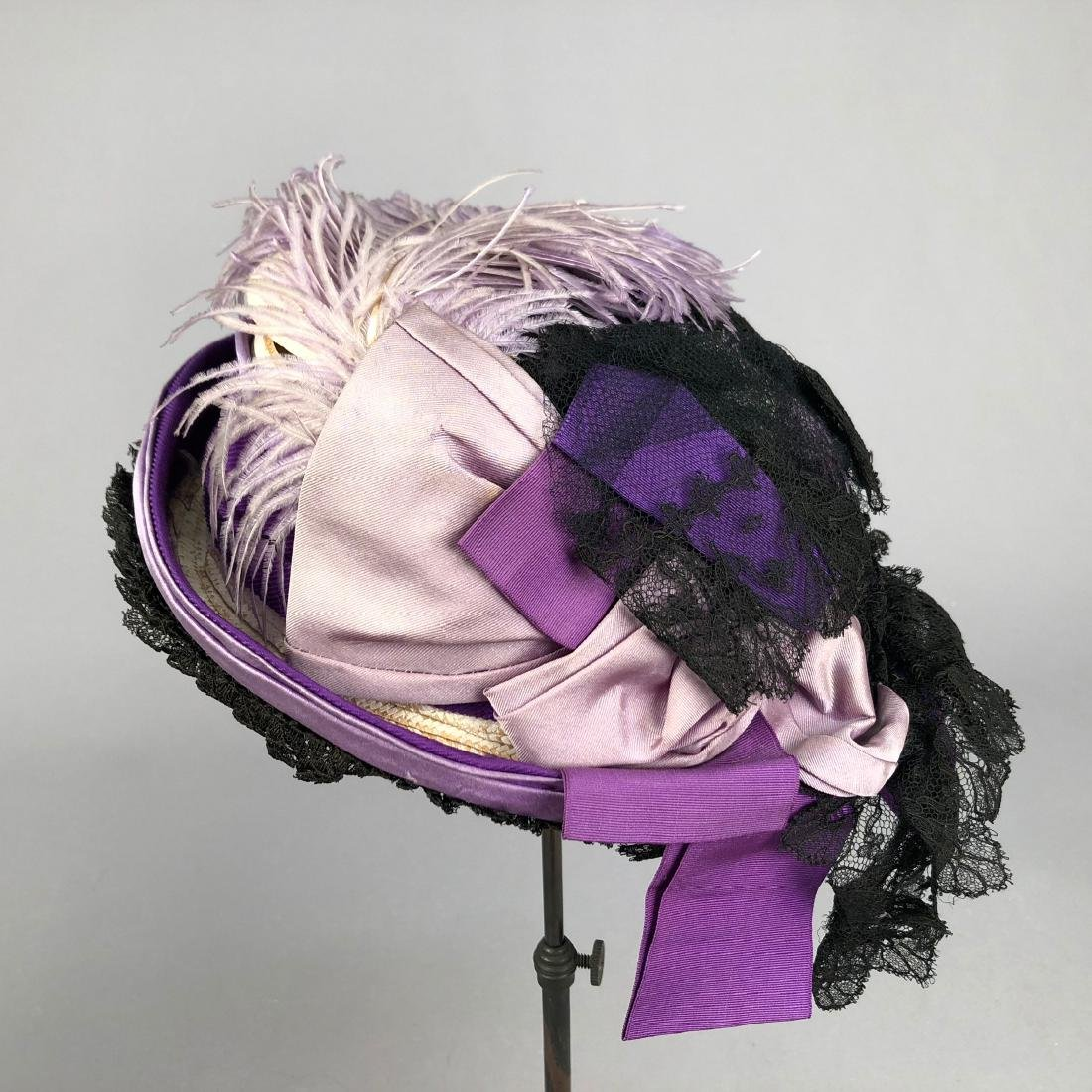 PURPLE TOQUE MODELED by VIVIAN LEIGH, 1870s - 2