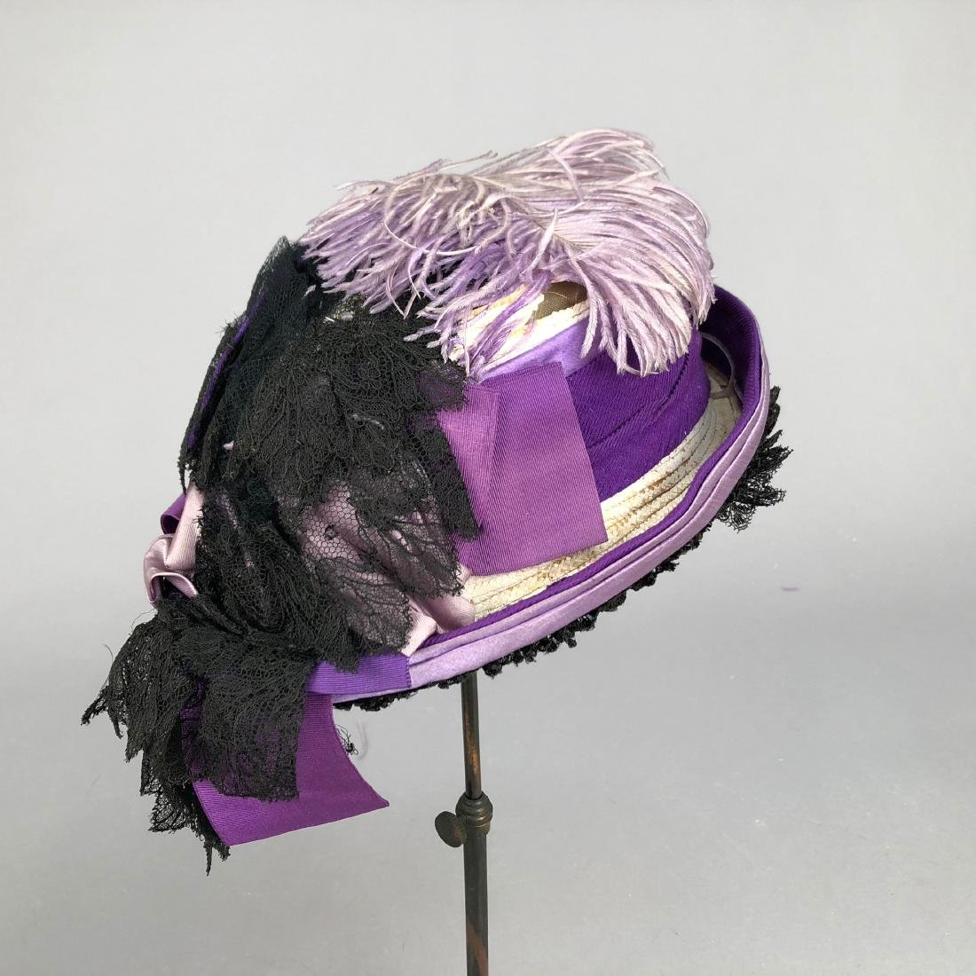 PURPLE TOQUE MODELED by VIVIAN LEIGH, 1870s - 3