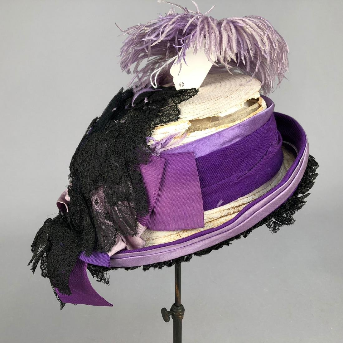 PURPLE TOQUE MODELED by VIVIAN LEIGH, 1870s - 4