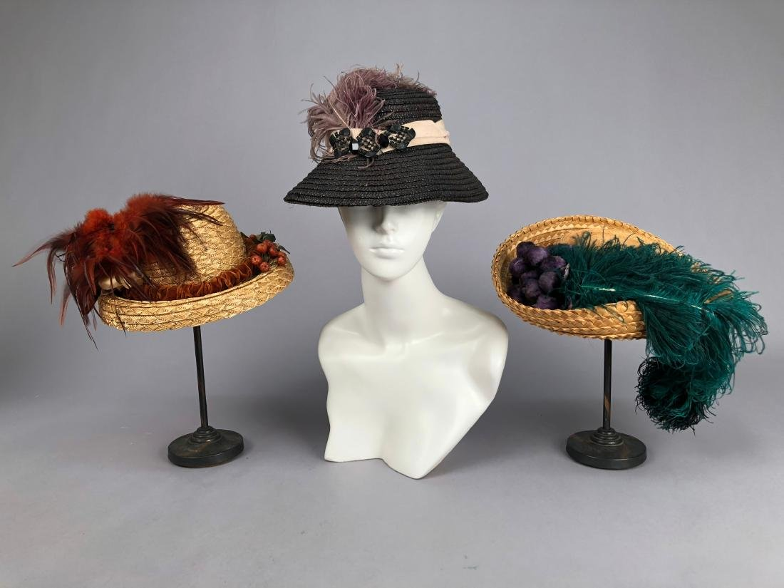 THREE STRAW HATS, 1880s
