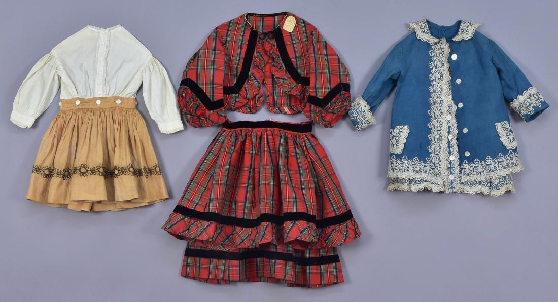 THREE LITTLE GIRLS' ENSEMBLES, 1860 - 1870
