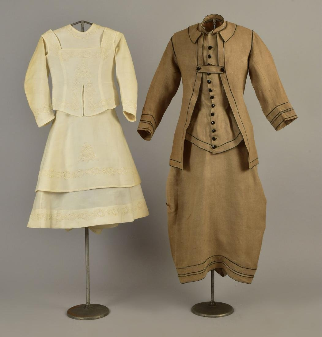 YOUNG LADY'S 3-PIECE LINEN SPORTING ENSEMBLE, 1868
