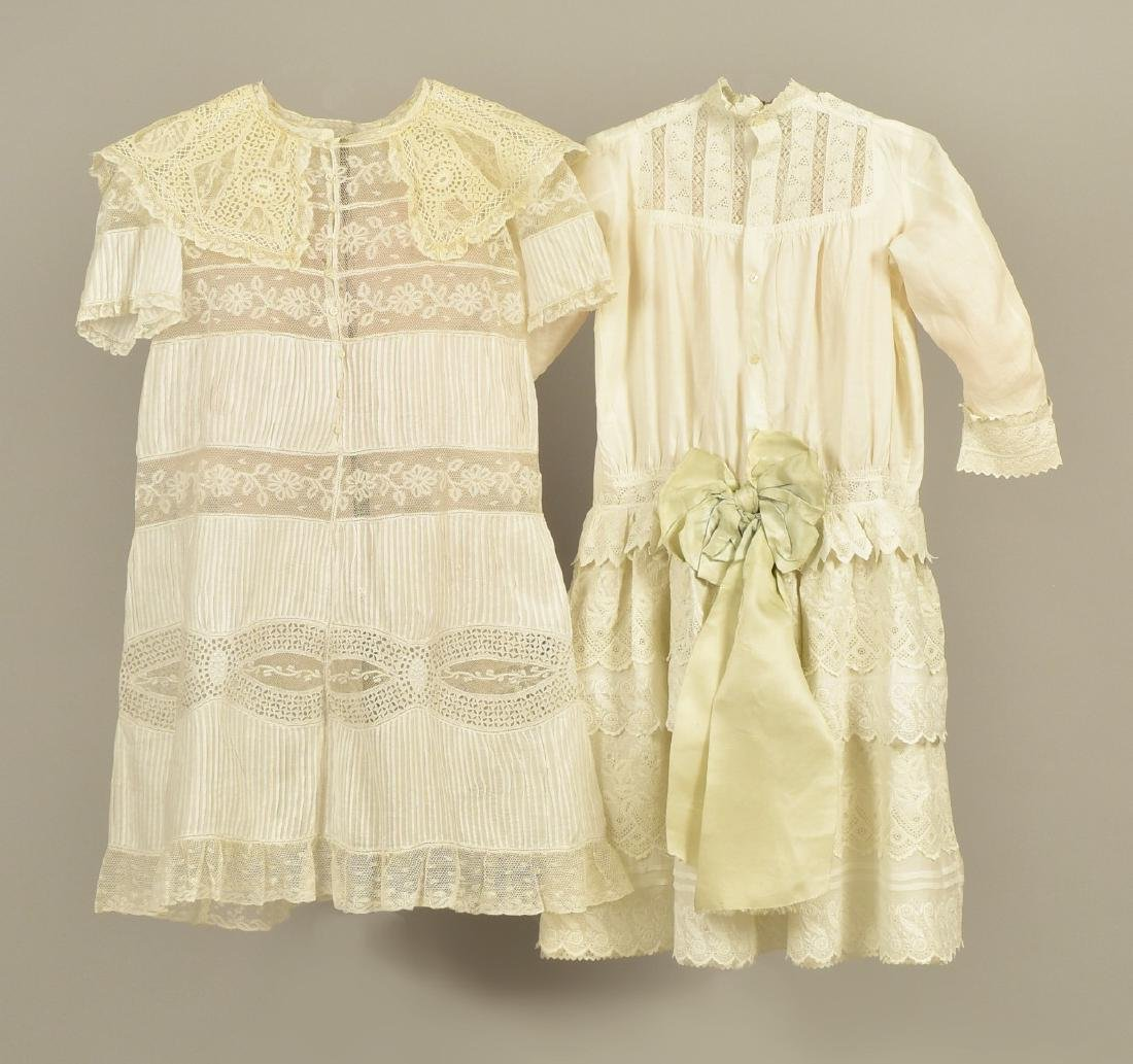 TWO YOUNG GIRLS' LACE DRESSES, 1870 - 1880 - 2