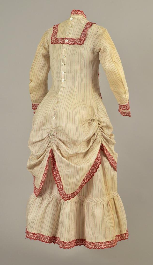 YOUNG LADY'S 2-PIECE STRIPED COTTON DRESS, 1876 - 2