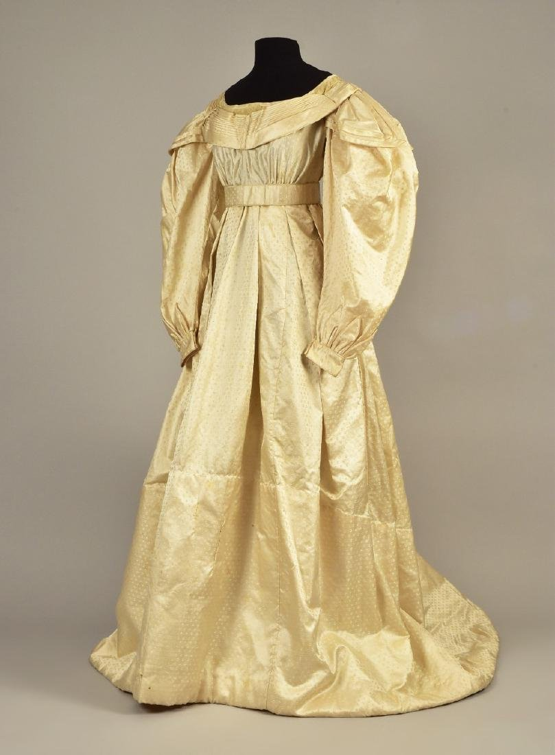 FIGURED SILK GOWN, PRINCESS LOUISE of PRUSSIA, c. 1825