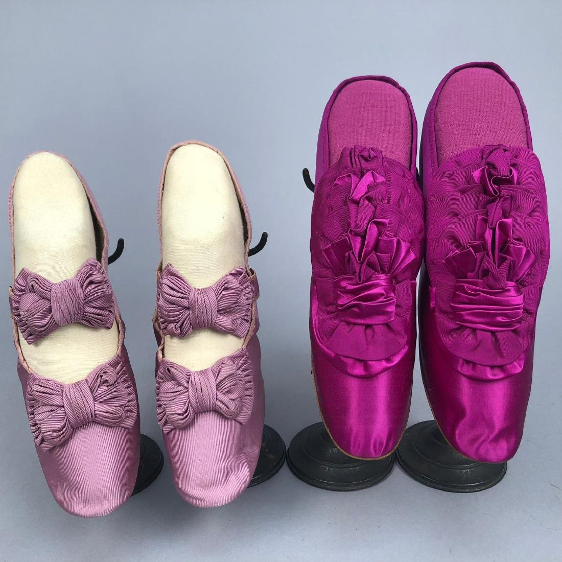 TWO PAIR SHOES, PRINCESS LOUISE of PRUSSIA, c. 1870 and
