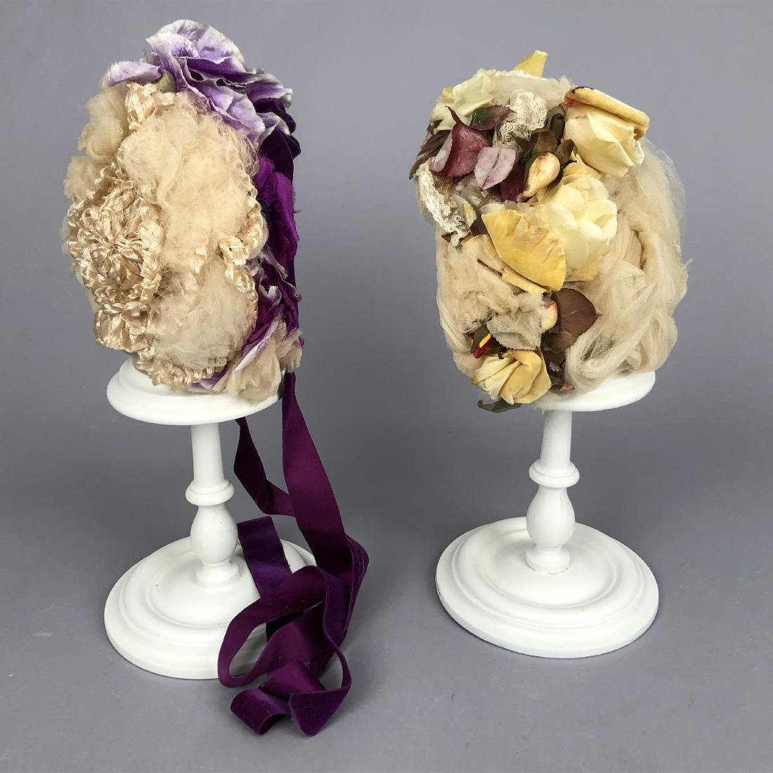 TWO TULLE HATS, PRINCESS LOUISE of PRUSSIA, 1880s -