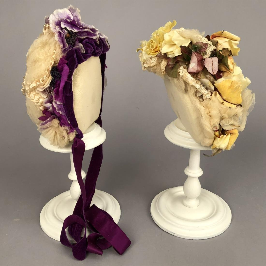 TWO TULLE HATS, PRINCESS LOUISE of PRUSSIA, 1880s - - 2