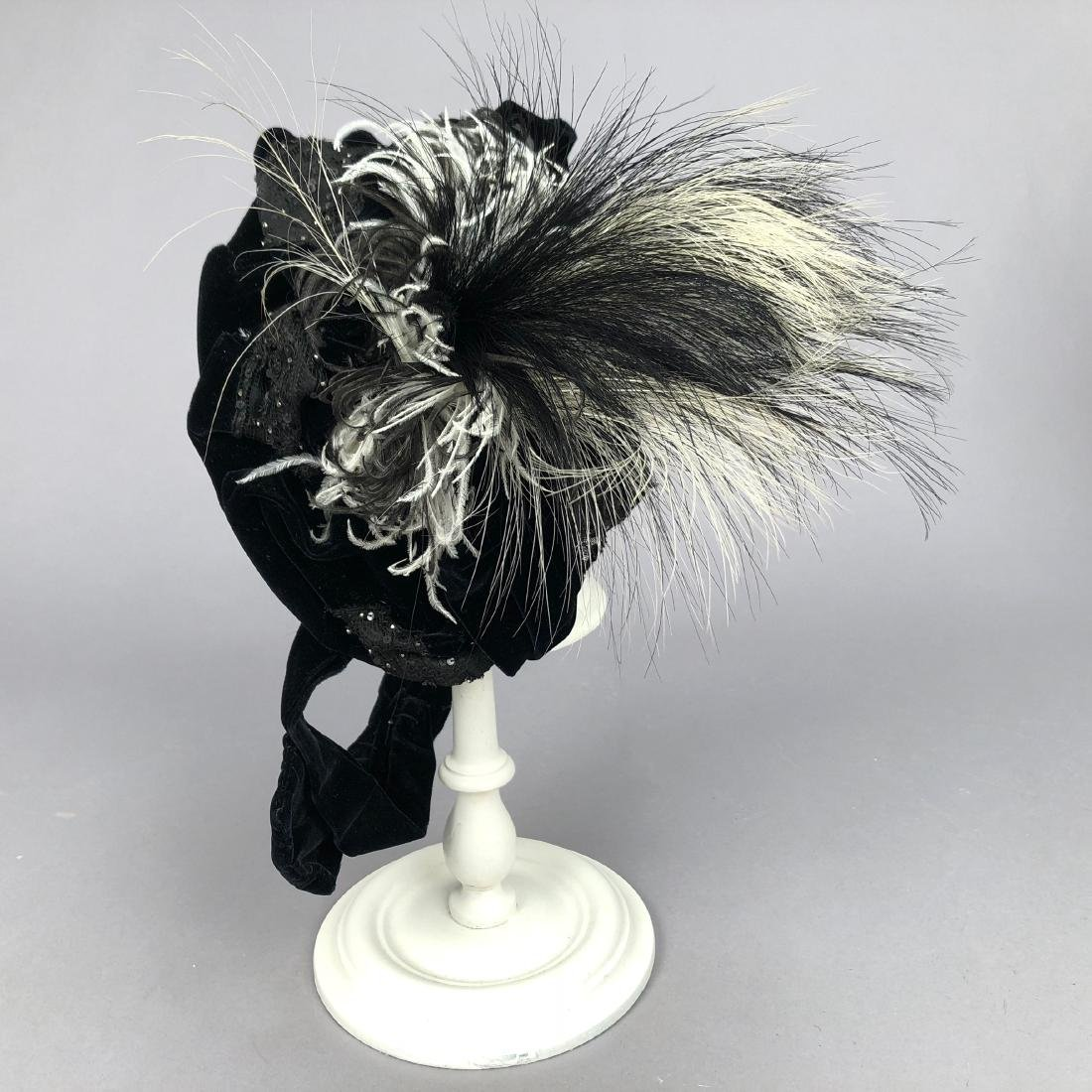 VELVET HAT, PRINCESS LOUISE of PRUSSIA, 1890s - 2