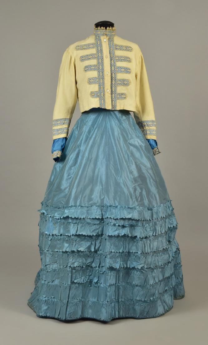 PARTIAL SILK and WOOL ENSEMBLE, QUEEN ALEXANDRA, 1860s