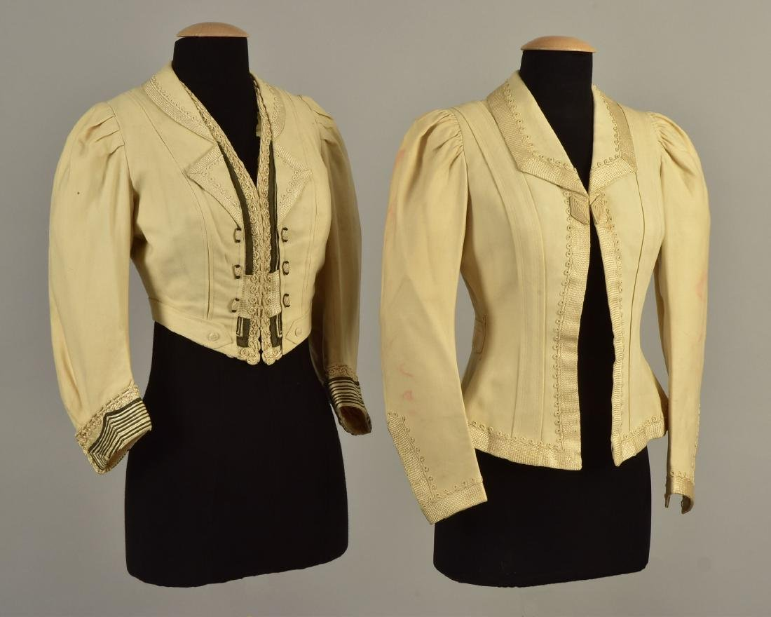 TWO JACKETS with SILK BRAID, QUEEN ALEXANDRA, 1900