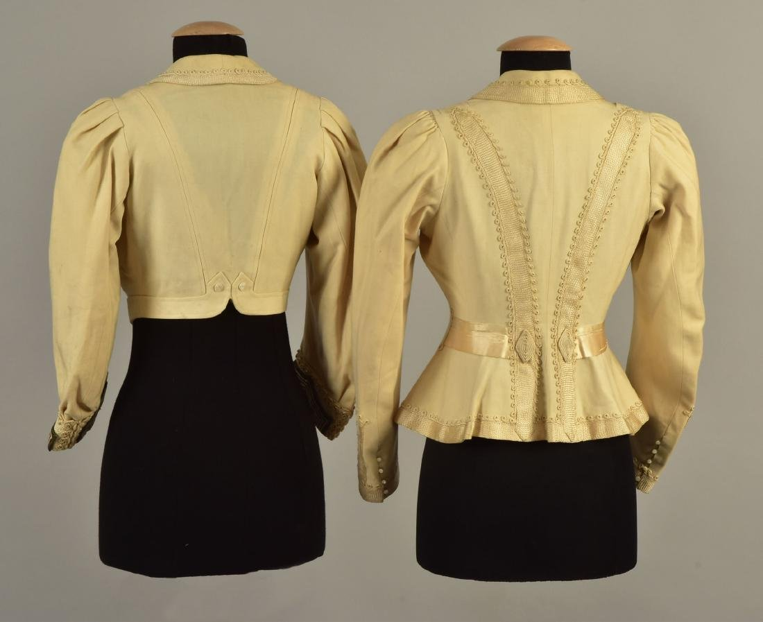 TWO JACKETS with SILK BRAID, QUEEN ALEXANDRA, 1900 - 2