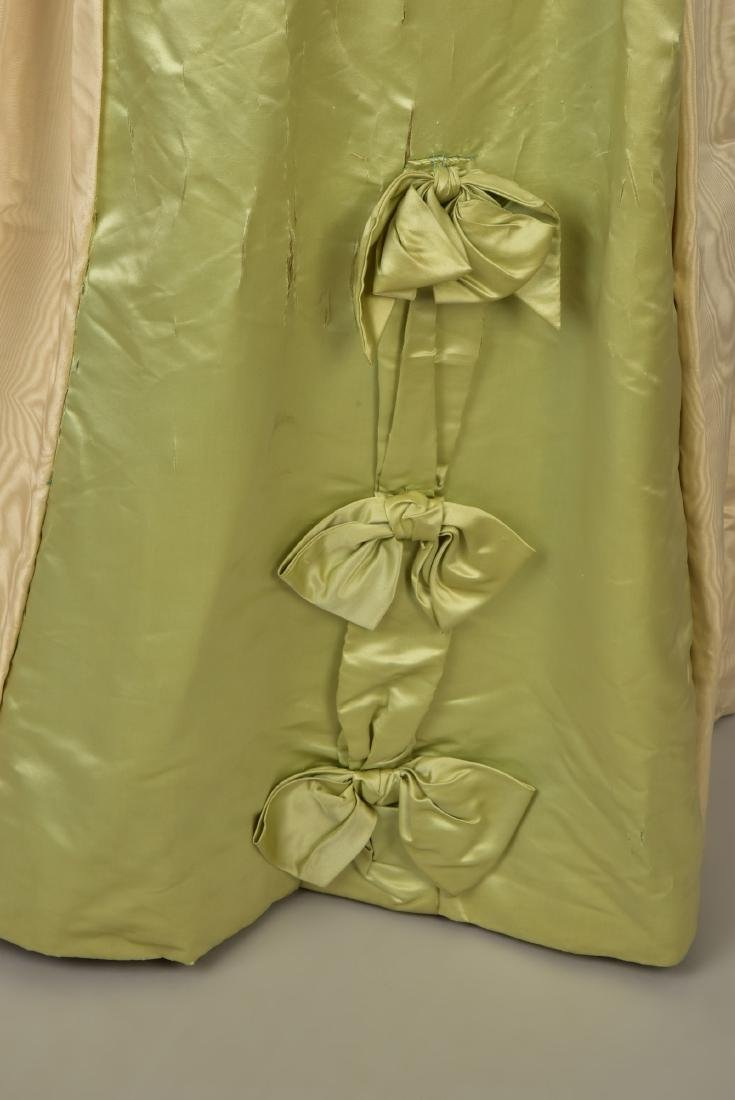 MOIRE SILK GOWN and SLIPPERS with ROYAL PROVENANCE, c. - 3