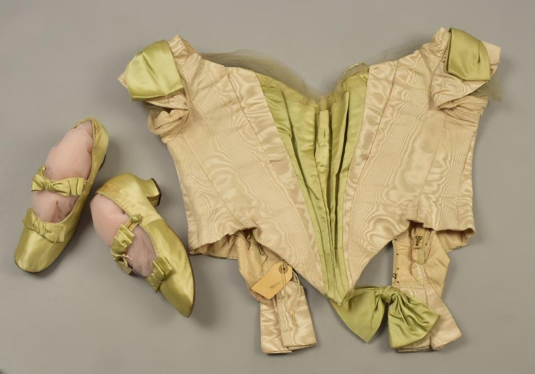 MOIRE SILK GOWN and SLIPPERS with ROYAL PROVENANCE, c. - 4