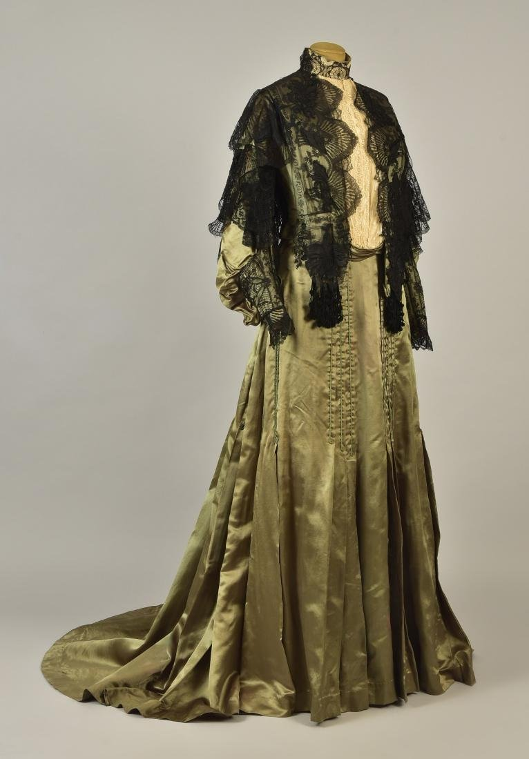 LACE over SATIN GOWN with ROYAL PROVENANCE, 1903